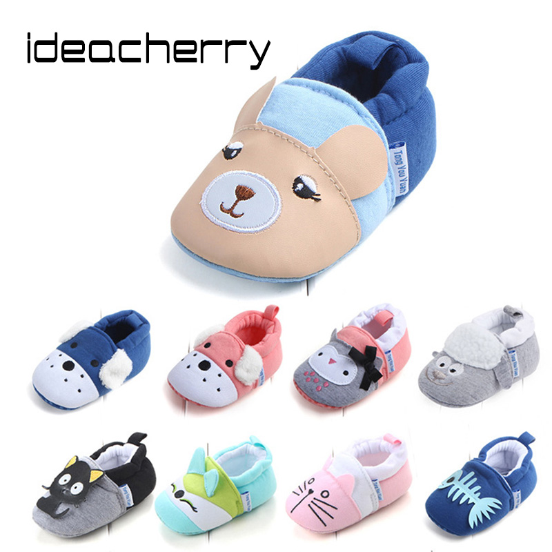 ideacherry Brand Spring Autumn Hot Sale Multicolor Baby Shoes Non-slip Baby Toddler Shoes Cartoon First Walker Soft Comfortable