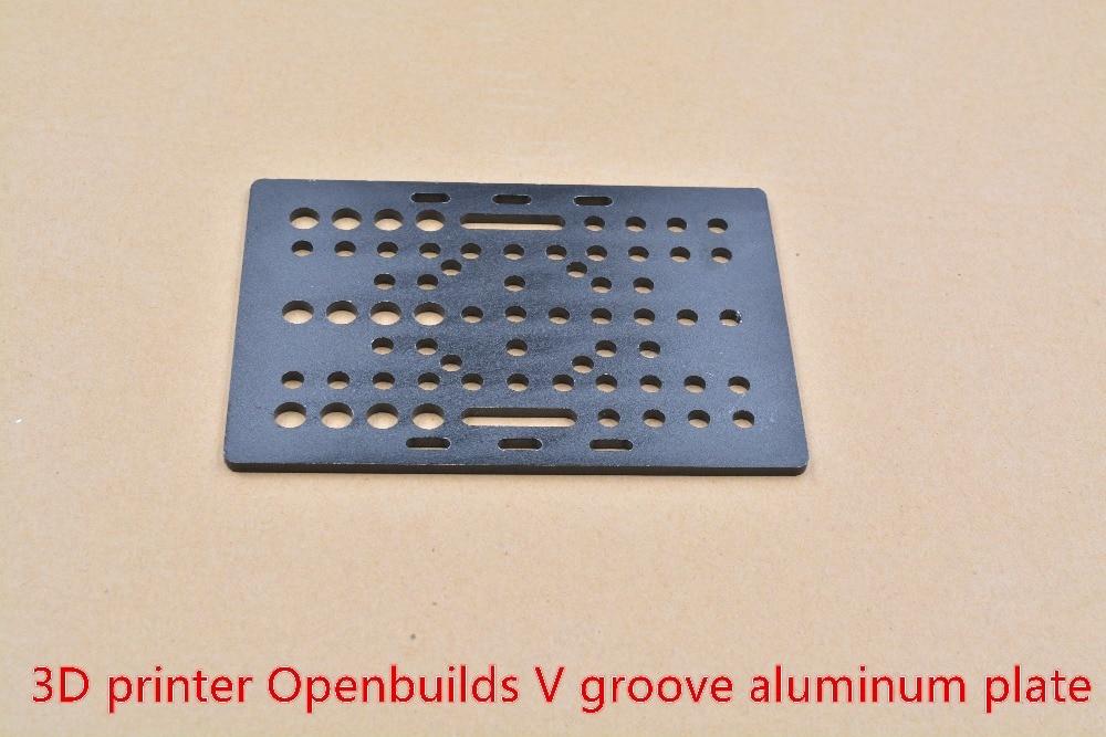 3D プリンタ openbuilds アルミプレート T3x88x127 特別なスライドアルミプロファイル V スロットガントリプレート (20 80 ミリメートル) -