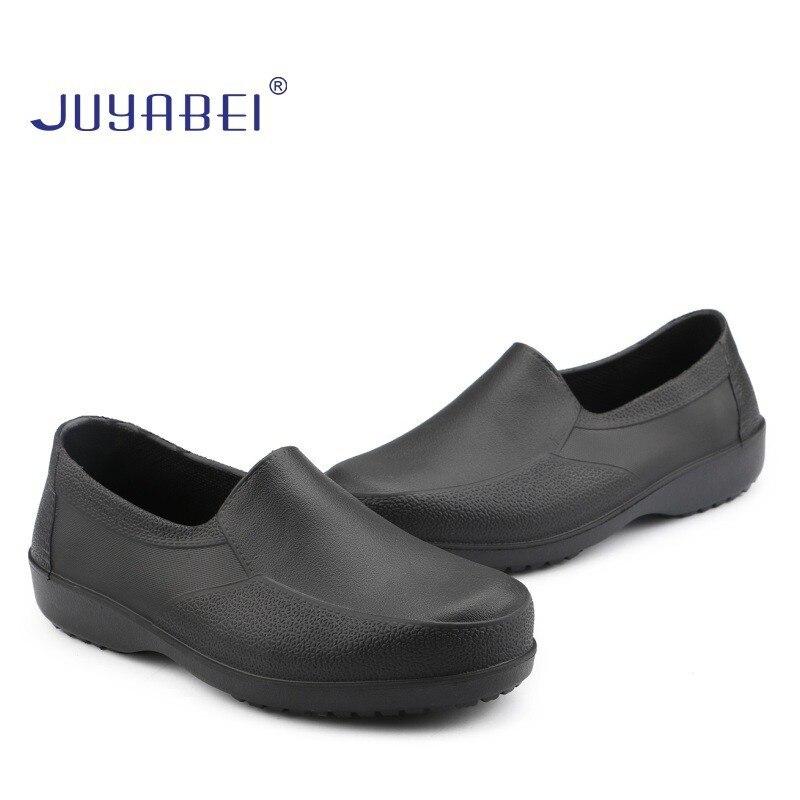 Summer Large Size Men's Waterproof Non-slip Outdoor Work Shoes Restaurant Hotel Food Service Kitchen Chef Shoes Wear EVA Rubber