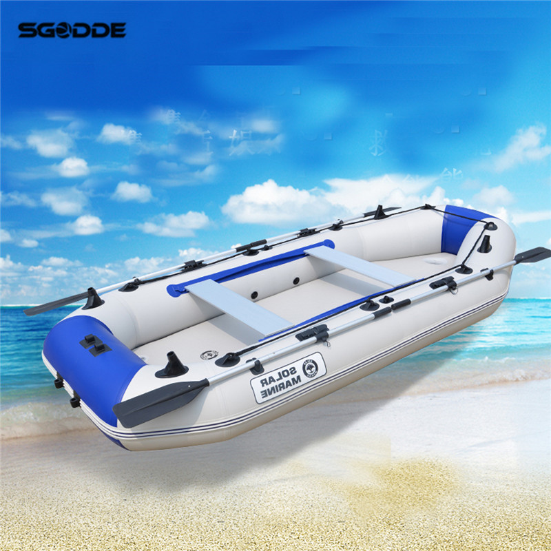 3 Person Rubber Inflatable Boat Fishing Sport Kayak Canoe Pvc Dinghy Raft With Aluminium Paddle Drifting Surfing Fishing Boat new fashion girls clothing kids clothes summer style sleeveless tops pants 2 pcs casual children suit 3 4 5 6 7 years