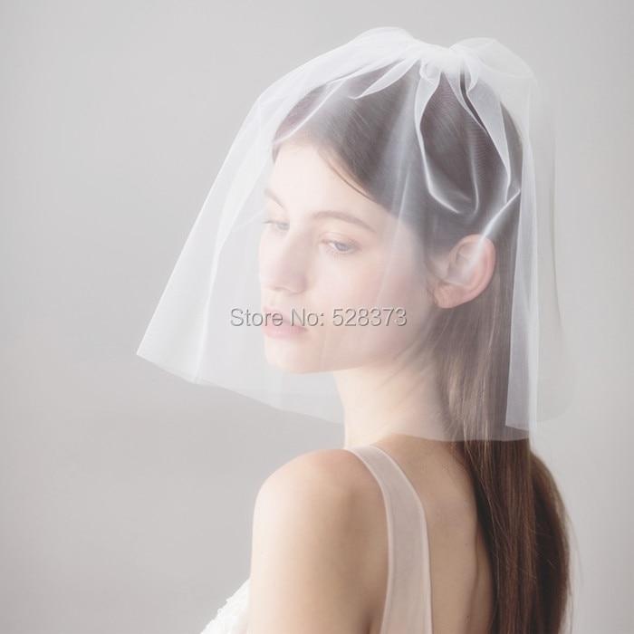 YNQNFS V14 Hair Decoration Facial Veil Short Wedding Veil