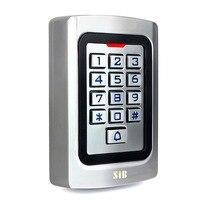 SIB IP68 Waterproof Metal Case Silicon Keypad Security Entry Door Reader RFID 125Khz EM Card Standalone