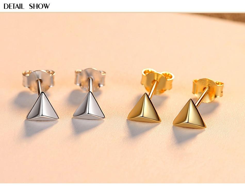 S925 silver earrings female simple triangle earrings creative silver earrings LW22