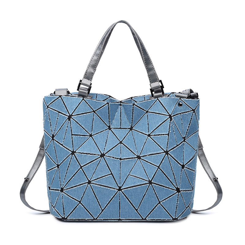 Canvas Geometric Large Handbags Ladies Purse Shoulder Crossbody Tote Bag Messenger Bag Bolsa Feminina