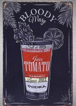 1 pc Vodka juice tomato lemon Bloody marry bar Tin Plate Sign wall plaques man cave Decoration Art Dropshipping Poster metal майка print bar bloody chronicle