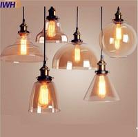 IWHD Glass Style Loft Industrial Pendant Light Dinning Room Edison Retro Vintage Lamp American Hanglamp Home