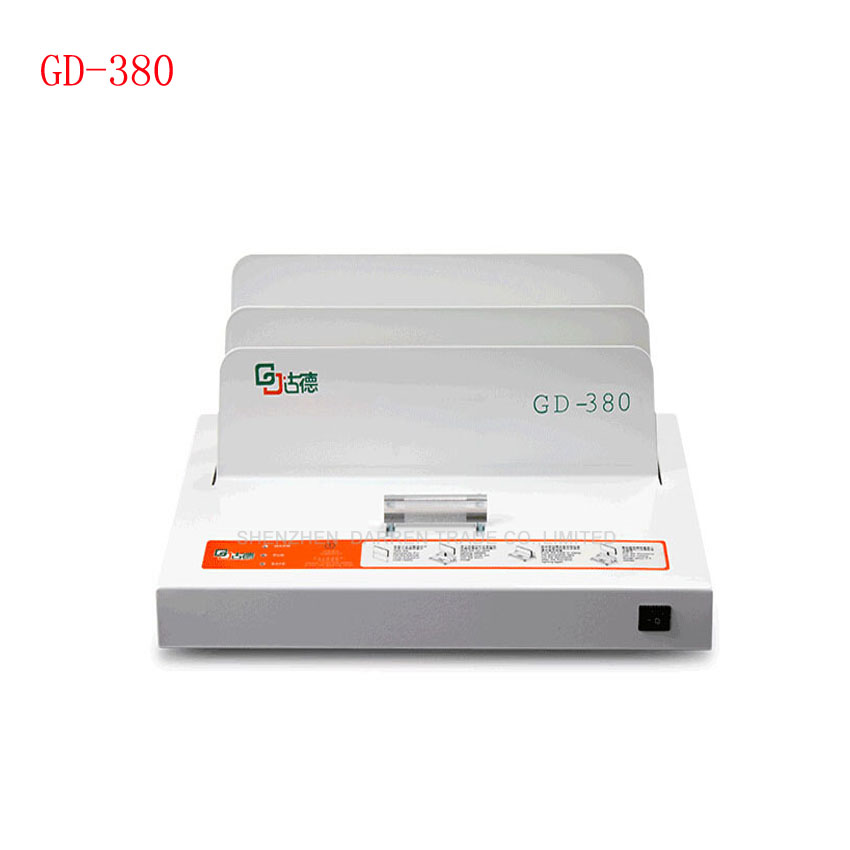 ФОТО 1PC  GD-380 A3 A4 Sleeve type automatic glue machine ,financial credentials, document,archives binding machine