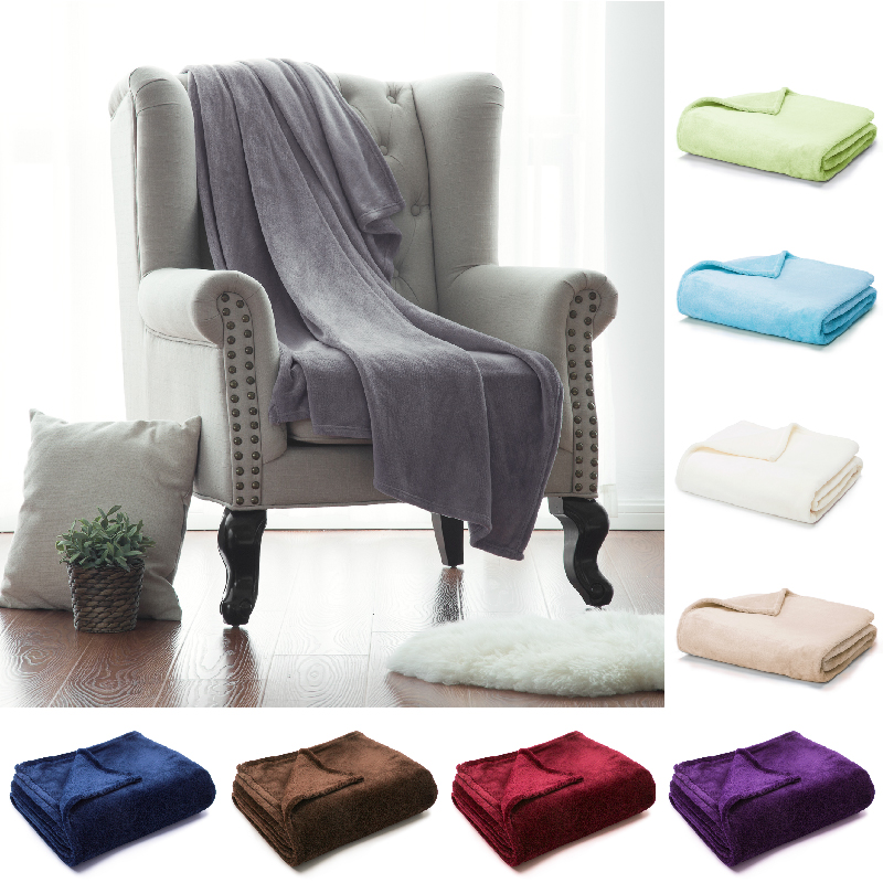 Naturelife Soft Throw Blanket Warm Coral Blankets Travel Flannel Sofa Solid Color Fleece Blankets For Bed Warm Cobertor