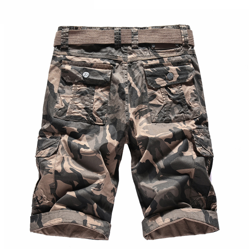 2018 New Pure Cotton Bermuda Masculina Camuflada High Quality Army Green Khaki Colors Pantalones Cortos De Camuflaje