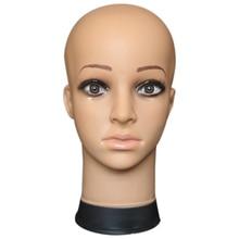 Women's Mannequin Head Hat Display Wig Torso PVC Training Head Model Head Model