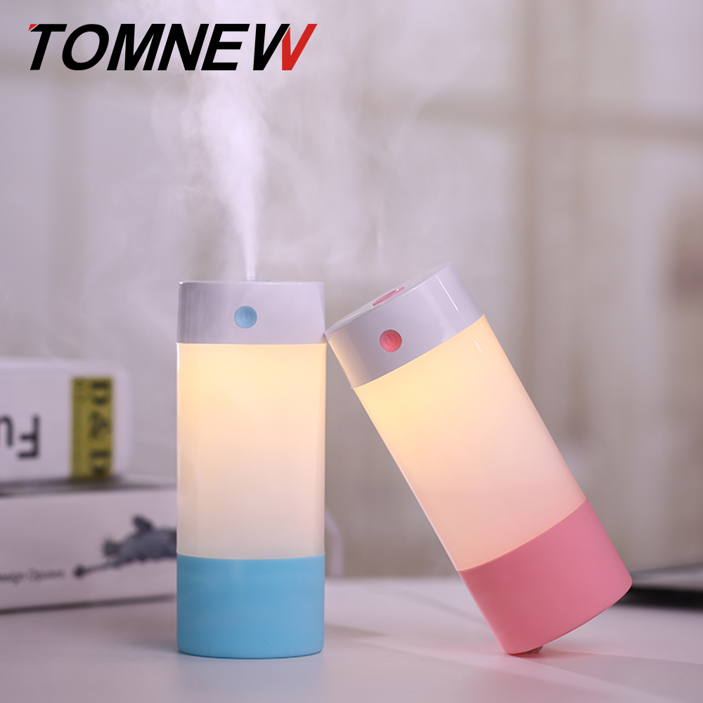 TOMNEW USB Mini Cool Mist Humidifiers 250ML Portable Ultrasonic Air Diffuser Purifier with LED Night Light for Home Office Car цена