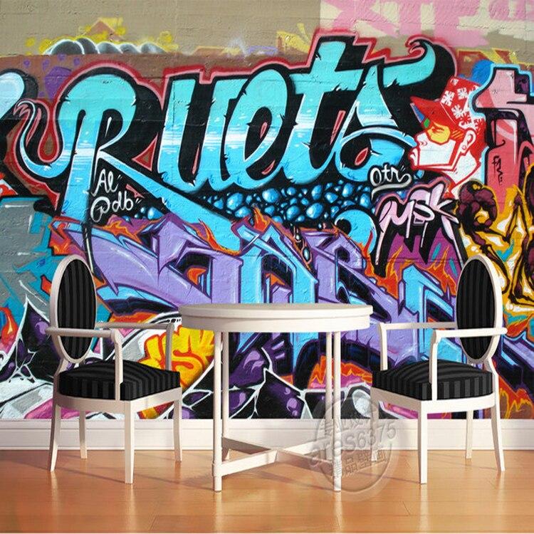Free Shipping personalized graffiti street art 3D stereo wallpaper mural custom background wall bar KTV wallpaper free shipping personalized fashion figure puzzle 3d wallpaper salon bedroom wallpaper background bar ktv mural