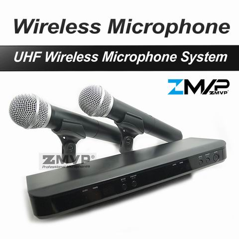 Free Shipping! Professional UHF BX288 P 58 Karaoke Wireless Microphone System With Dual Handheld Microphone Cardioid Transmitter free shipping pgx pgx24 beta58 uhf karaoke wireless microphone system with super cardioid beta handheld microfone microfono mic