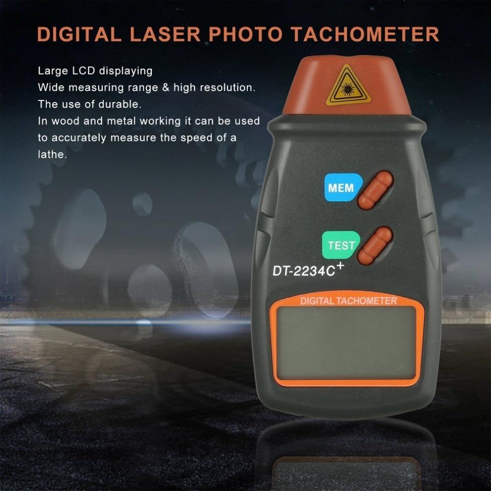 Nuevo Laser Digital del foto tacómetro sin contacto RPM Tach tacómetro láser Digital velocímetro indicador de velocidad del motor