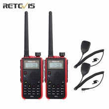 2X Walkie Talkie Retevis RT5 Dual Band VHF/UHF Mobile Amateur Radio Portable Ham Two Way Radio Transceiver+2X Speaker Mic