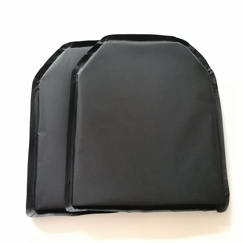 One Pair 10 x 12 Shooters Cut Ballistic Panel Body Armor Safety Plate Aramid Core  Bulletproof Plate  Level IIIA 3AOne Pair 10 x 12 Shooters Cut Ballistic Panel Body Armor Safety Plate Aramid Core  Bulletproof Plate  Level IIIA 3A