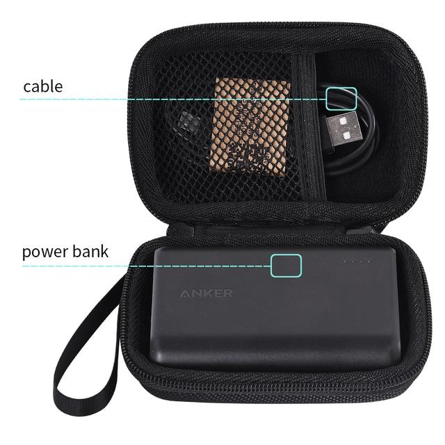 Viajes llevar caja de almacenamiento para Anker PowerCore velocidad 10000 10000 mAh QC cargo 3,0 externo portátil cargador de batería Banco de la energía