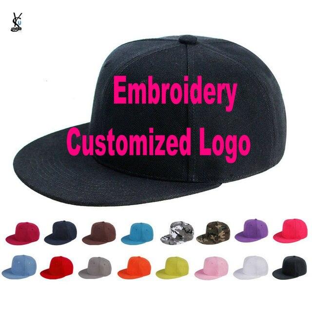 cdbd7662987 Custom Embroidered Hats Cap For Girls Boys Cuatomized Cartoon Name Children  Cap Adult Hip-Hop Flat Baseball Cap For Summer YY141