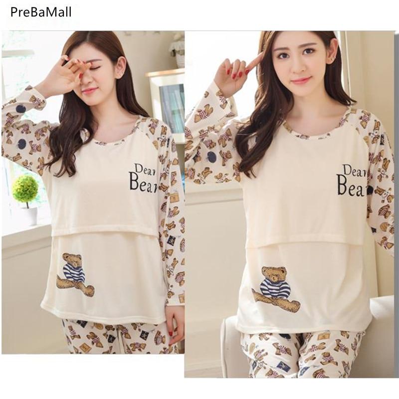 92c3f90ab Pijama de lactancia Embarazo Pijamas Ropa para alimentarse en camisón de invierno  Embarazo Pijama Amamantar Ropa de maternidad B0455. SIZE  D7  D8  D5  ...