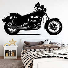 American-Style  Motorcycle Wall Art Decal Wall Stickers Pvc Material For Kids Room Living Room Home Decor Vinyl Art Decals drop shipping cabaret wall art decal wall stickers pvc material for kids room living room home decor removable decor wall decals