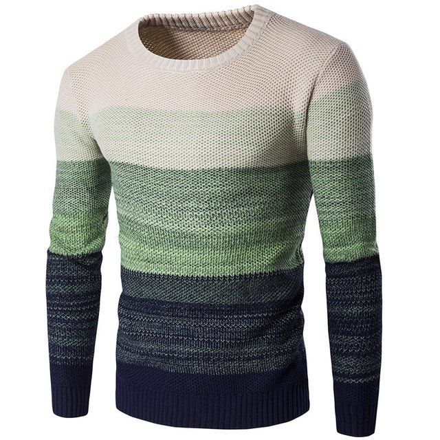 Pullover Männer 2018 Neue Ankunft Casual Pullover Männer Herbst O Hals Farbverlauf Qualität Gestrickte Marke Männlichen Pullover S-2XL NZ727