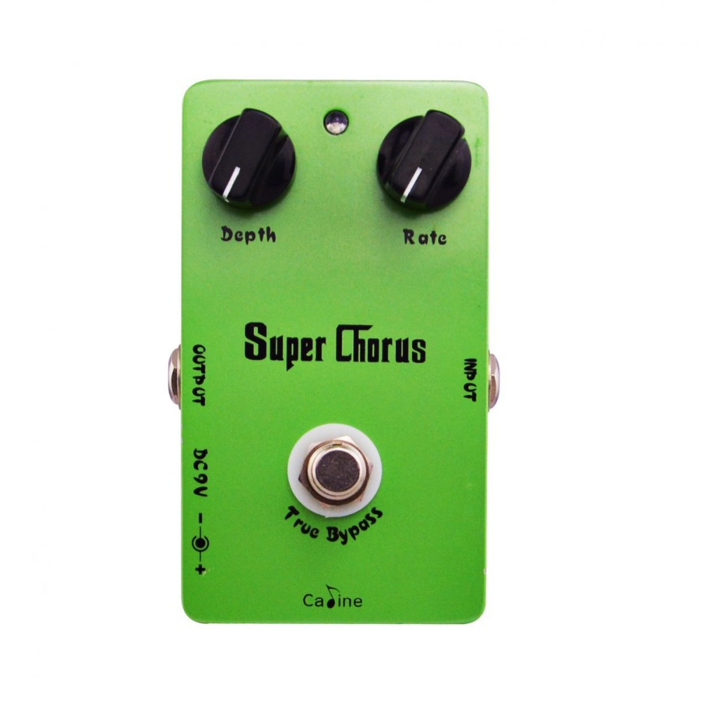 Caline CP-13 Super Chorus Guitar Effect Pedals with Rate and Depth Knobs Guitar Pedal Effect Pedal True Bypass Aluminum Alloy mooer ensemble queen bass chorus effect pedal mini guitar effects true bypass with free connector and footswitch topper
