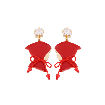 Red Trench Coat Clip Earring Fashion Jewelry Sieraden Joyas Charm Jewellery Boucle D Oreille Earings серьги кольца fashion in 40 d oreille brincos argola pequeno 40er 1