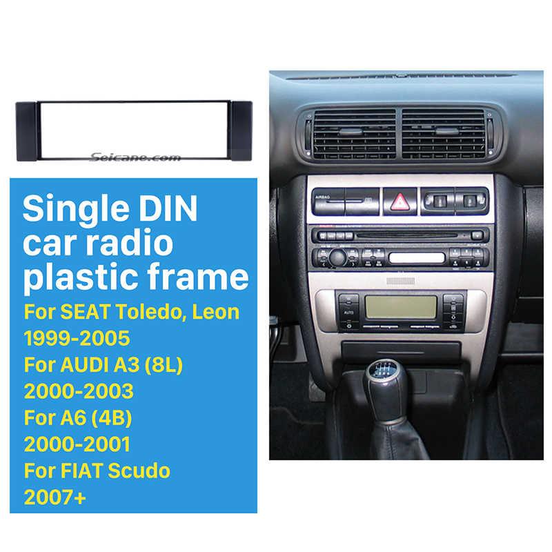 Seicane 素敵な 1Din のカーラジオ筋膜 2001-2003 アウディ A3 (8L) /2000 2001 アウディ A6 (4B)/2007 フィアット Scudo/1999-2005 シートトレドレオ
