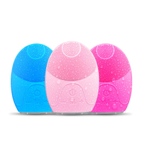Electric Face Cleanser Vibrate Pore Silicone Cleansing Brush Massager Facial Skin Care Spa Massage Facial Cleansing
