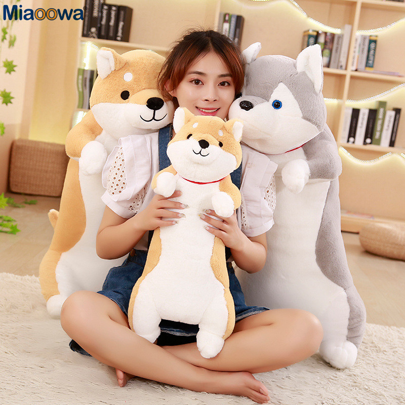 1pc 60cm Cute Corgi Dog Plush Toys Soft Kawaii Animal Cartoon Dog Stuffed Plush Sofa Pillow Lovely Christmas Presents For Kids