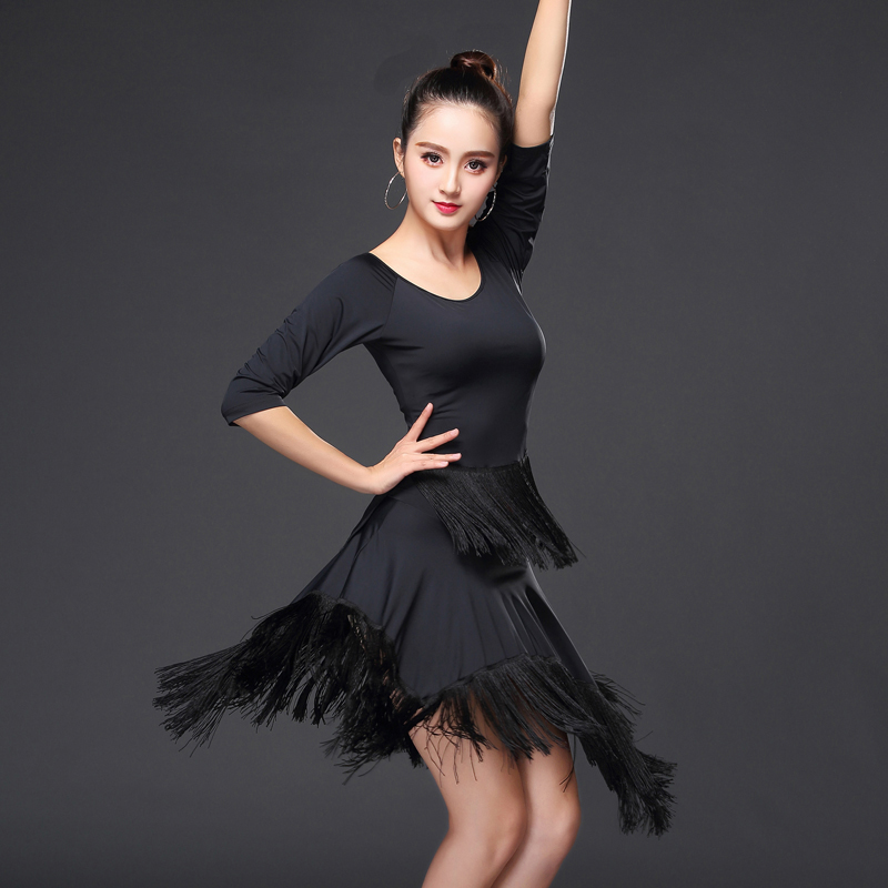 2018 summer modern girl latin dance dress for girls salsa tango skirt ballroom dancing dress child competition dancewear dance