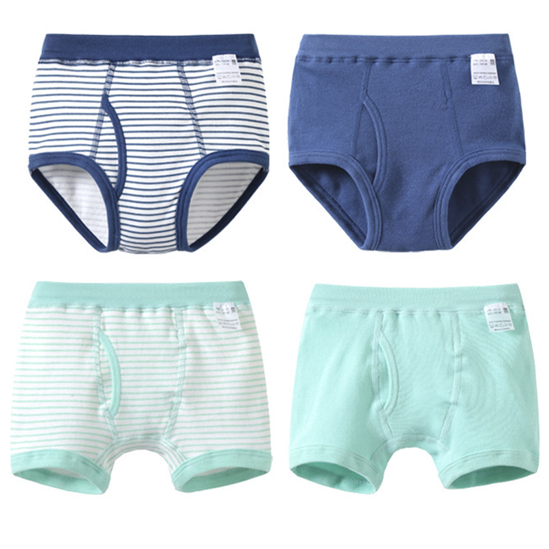 e68dd9097ab80 US $15.98 |4 Pcs/Lot Soft Organic Cotton Kids Boys Briefs and Boxers Set  For Children's Boxer Shorts Panties Boy Underwear Baby Clothes-in Underwear  ...