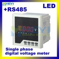 Divers Taille LED monophasé voltmètre HY-AV numérique panel meter Classe 0.5 Ac/Dc numérique voltmètre avec RS485 communication