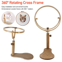 Adjustable Embroidery Hoop Stand Wood Cross Stitch Hoop Set Embroidery Ring Frame Embroidery Tools