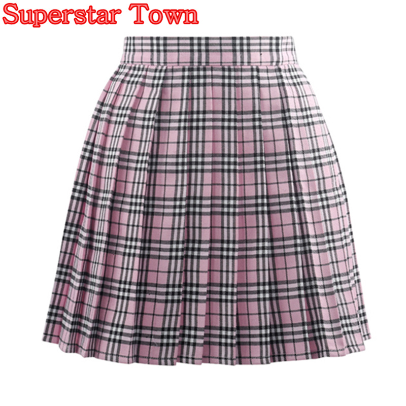 Popular Pink Plaid Skirts-Buy Cheap Pink Plaid Skirts lots from ...