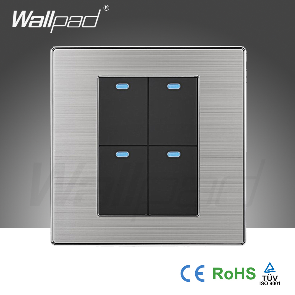 2018 Hot Sale 4 Gang 2 Way Wallpad Luxury Led Wall Light Switch Push To Outlet Button Switches Interrupteur 10a Ac 110250v In From Lights Lighting On
