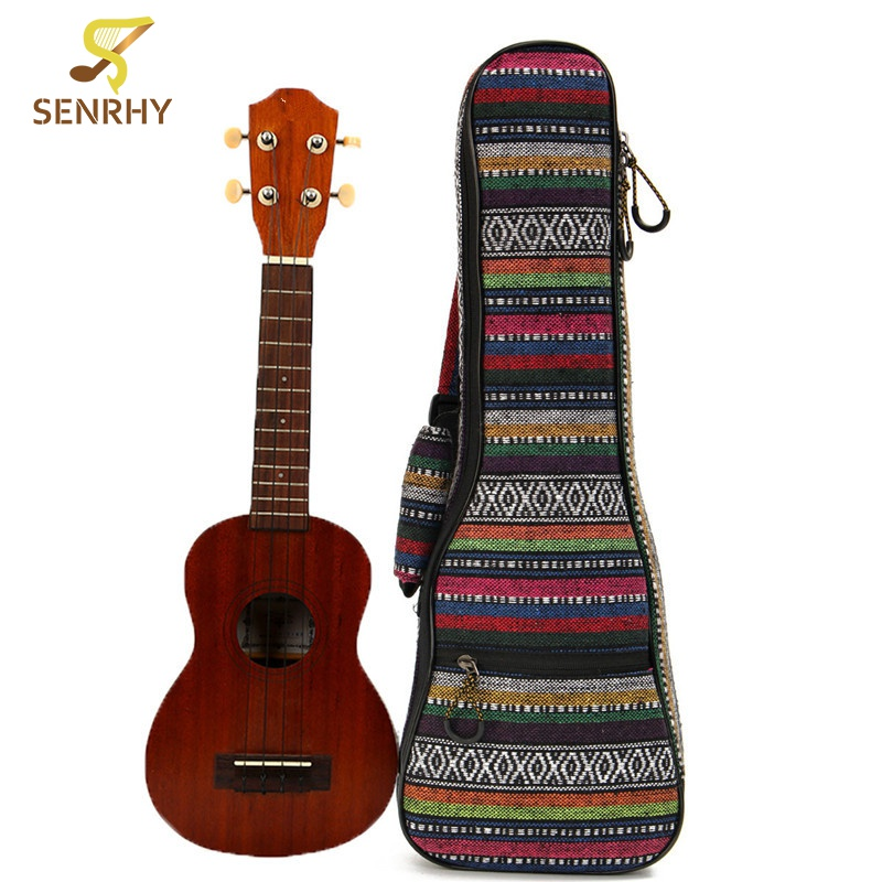 21Inch Cotton+Nylon Soft Padded Portable Guitar Gig Bag Ukulele Case Cover Backpack With Double Shoulder For Ukulele Accessories backpack bag easy carry case for yuneec q500 4k q500 typhoon uav special customize quadcopter for aerial drones nylon shoulder