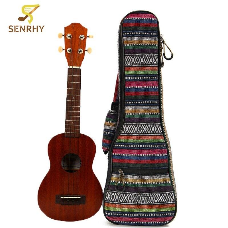 21Inch Cotton+Nylon Soft Padded Portable Guitar Gig Bag Ukulele Case Cover Backpack With Double Shoulder For Ukulele Accessories