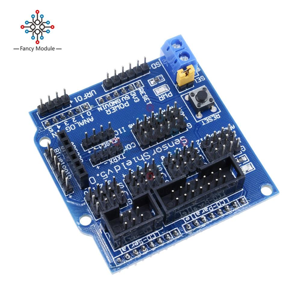 Sensor Shield  V5.0 For Arduino APC220 Bluetooth Analog Module Servo Motor NEW