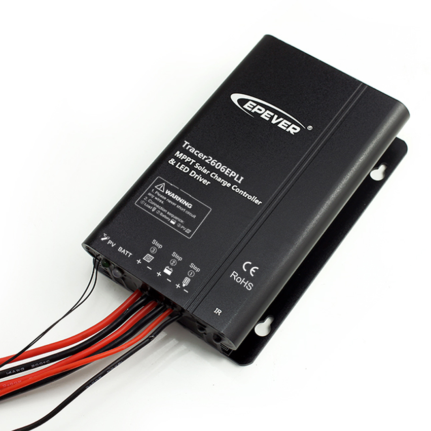 10A 12V 24V EP EPEVER MPPT Solar charge controller with Timer IP67 LED Driver programmed  By Mobile APP function