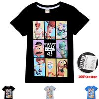 Movie Toy Story 4 T Shirt Summer T-shirt Short Sleeve Tops Tees 3-11y Teenager Girls Boys Clothes Kids Casual Sports Clothing