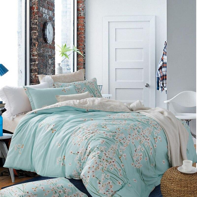 buy 6pcs cotton duvet cover set 100 cotton twin full queen king size bedding. Black Bedroom Furniture Sets. Home Design Ideas