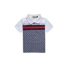 Для детей от 2 до 8 лет футболки для мальчиков летние шорты рукава футболка для детей отложной воротник бренд F шеи Футболка Одежда для маленьких мальчиков