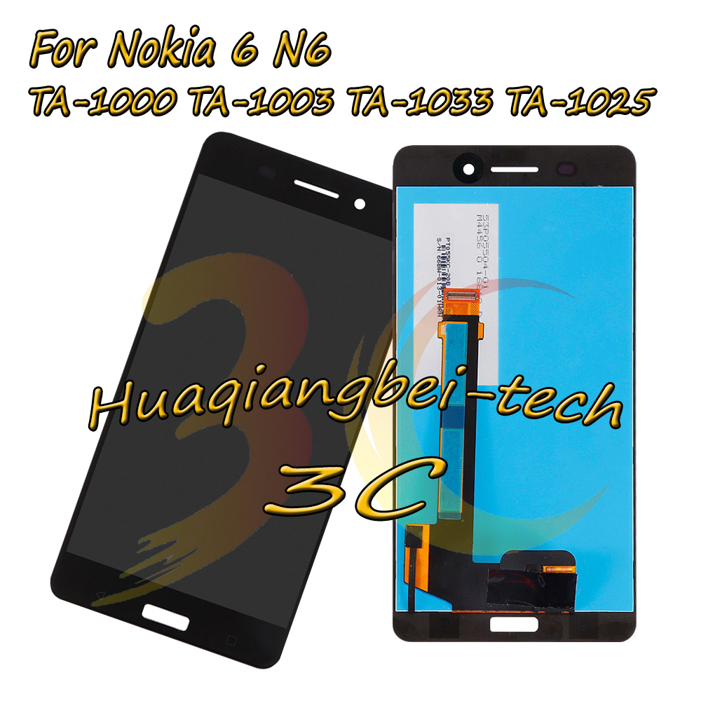 5.5 ''Per Nokia 6 N6 TA-1000 TA-1003 TA-1033 TA-1025 LCD Full DIsplay + Touch Screen Digitizer Assembly Per Nokia 6 100% Testato