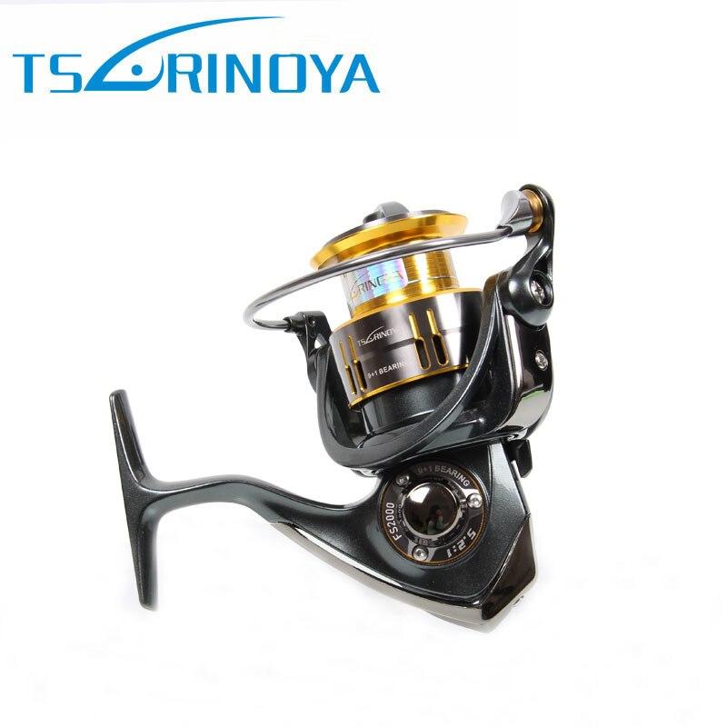 ФОТО Tsurinoya FS1000 FS2000 Spinning Fishing Reel 9+1 Bearings 5.2:1 aluminum spool saltwater surf  bait casting reel Molinete Pesca