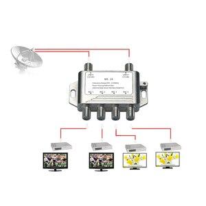 Image 4 - 2018 도매 2 4 DiSEqC 스위치 4x1 DiSEqC 스위치 위성 안테나 평면 LNB 스위치 TV 수신기