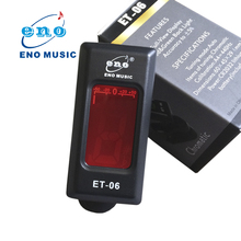 ENO ET-06G Portable 360 Degree Mini Rotatable LCD Guitar Tuner Electronic Digital Clip-on Tuner for Guitar