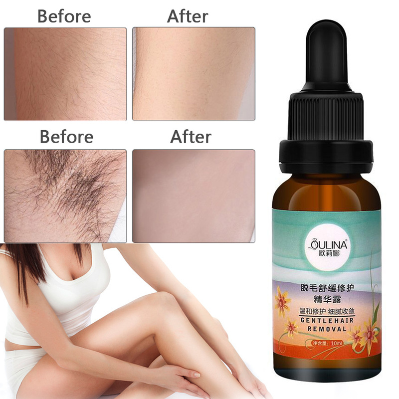 Hyaluronic Acid Hair Removal Repair Essence Liquid Body Serum Hair Growth Inhibitor For Depilation Facial Leg Body Armpit TSLM2