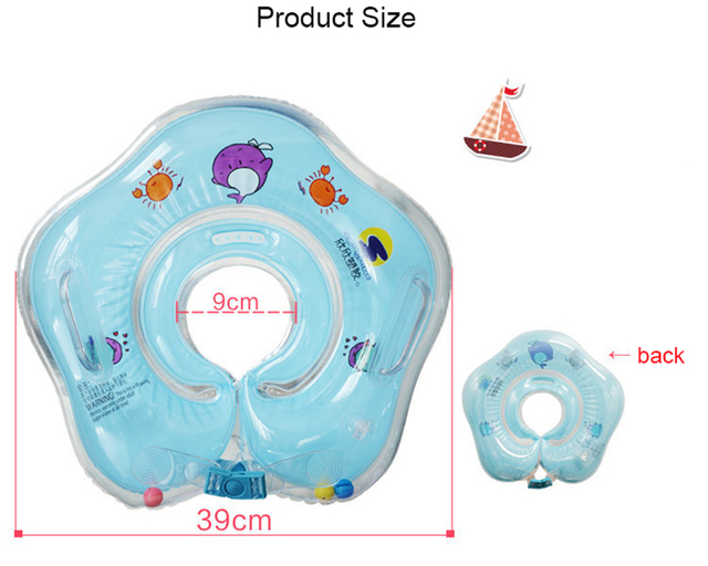 Newborn Inflatable Swim Neck Ring Baby Infant Float Ring Swim Buoy Children Circle For Bathing Baby Swimming Pool Accessories