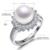 Daimi 100% anillos de perlas naturales 10-11mm joyería de perlas para las mujeres del estilo del verano.